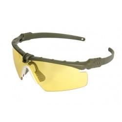 Защитни очила - Жълти със Зелена рамка