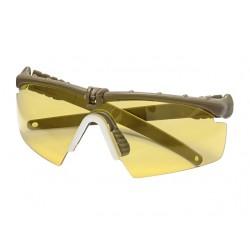 Защитни очила - Жълти с Кафява рамка