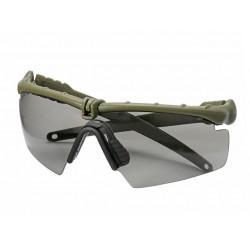 Защитни очила - Затъмнени със зелена рамка