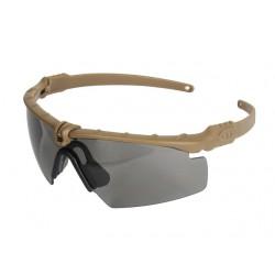 Защитни очила - Затъмнени с Кафява рамка