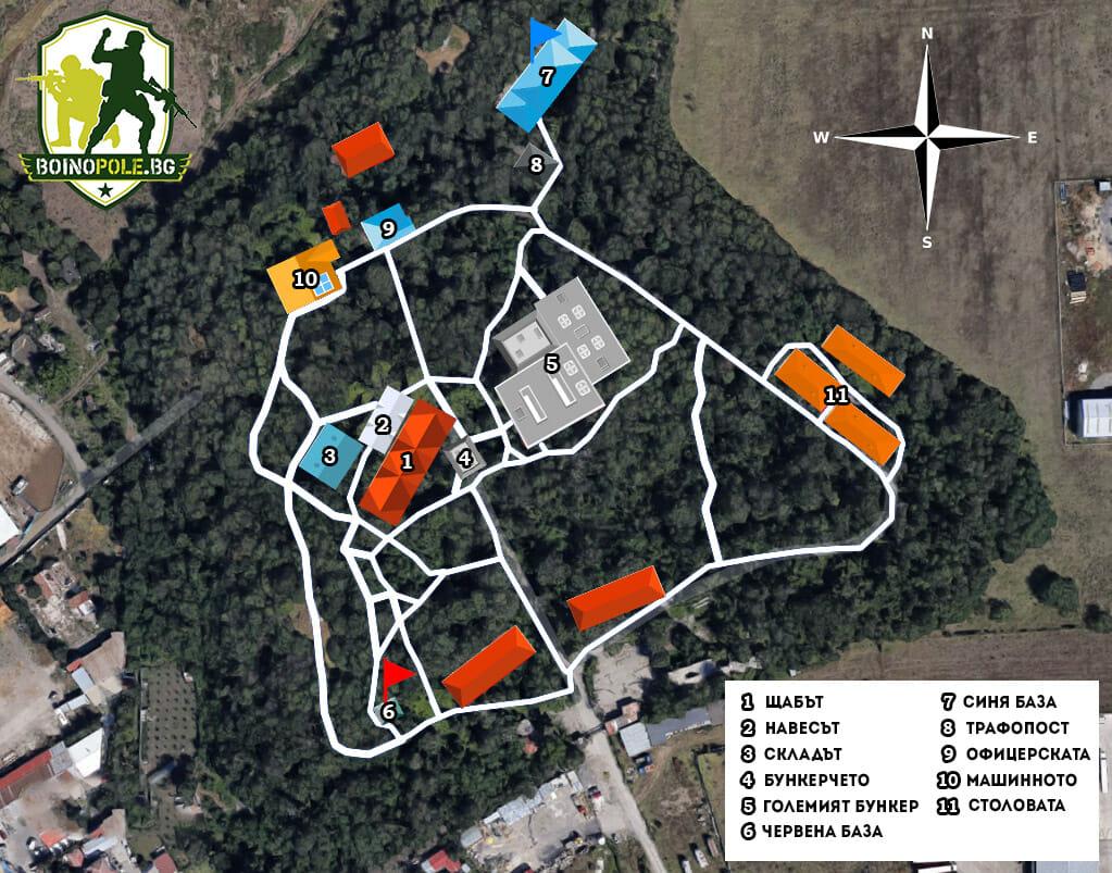 Еърсофт Карта - Бойно Поле
